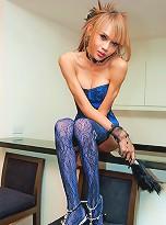 Kinky ladyboy sucking and stuffing her spike heel