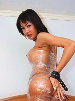 Horny shemale Lilly wrapped in yummy package