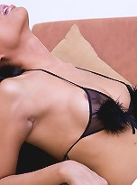 Hung shemale Bebe feeds her hard meat to her lover
