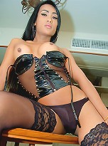 Nasty Ladyboy mistress gives lucky slave facial