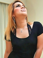 Big beautiful Thai ladyboy jerks off
