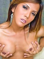 Delightful sexy tranny Jesel milks her sexy belly