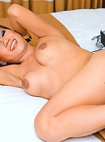 Luscious Asian ladyboy Koy jerking her hard tool
