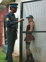 Sweet tranny Ayelen heavily pounded by a black police officer