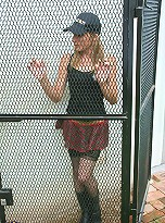 Slender cutie Ayelen gets serious stuffing from a horny policeman