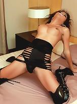 Nympho ladyboy has fun with sex toy