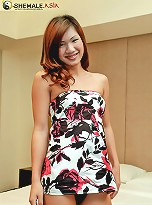 Thick and hard ladyboy plays with herself