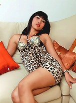 Kinky Asian ladyboy plays with her hardon