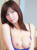See busty ladyboy get her ass hammered