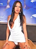 Sexy big cock tranny sucks and fucks
