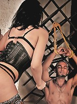 Ts domme does kinky things to a man