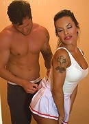 Transexual Seduction of the Quarter Back Shower Take Down