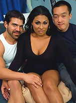A Dorm Room Threesome with a Surprise 3rd Cock