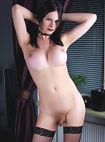 Transgirl Hannah Sweden shoving a HUGE DILDO in her tight Ass
