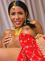 Exotic sexy tranny reveals the taste of India