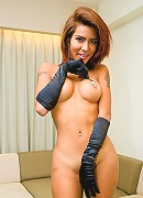 Sizzling hot ladyboy getting into the playful mood