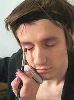 Handsome guy exspressing his feminine side