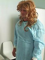 Kinky crossdressers in hot nurse-patient role play