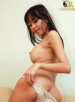 See shy Asian shemale unleash her seaman