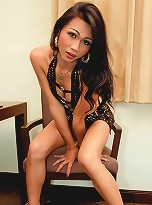 Watch bitchy ladyboy Aon stroke her pole