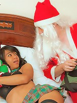 Shemale coed Cartun getting crammed by horny Santa