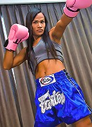 Boxing ladyboy Janeth sporting her big love muscle
