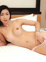 Another Thai tranny hooker gagging for cock