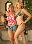 Blonde Brazilian trannies Alexia and Reana are extremely horny and craving the touch of a shemale.