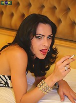 Brazilian Tranny Marcia Kelly is always the dominant one in sex. She loves forcing someone to submit to her and wrap their mouth around her veiny cock.