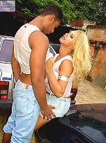 Rodrigo picks up this busty Tgirl off the streets of Brazil