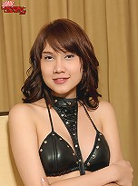 Pat is a kinky ladyboy from Bangkok who loves dressing up in bondage and getting fucked in her tight she-pussy!