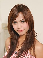 Aun is horny ladyboy from Bangkok. She has small, hormone tits with dark round nipples. She has a playful personality,