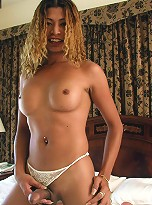 Cute Filipino ladyboy, showing off her hot cock and tits for first time