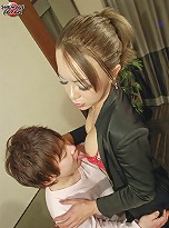 Sexy shemale Sakura from Tokto loves to suck cock for a long time.