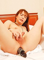 Tsugumi is a true freak. She is a sex addict and loves really hardcore sex - just watch and see what she does to get erect.