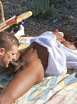 Natalia Coxxx Shemale Pornstar hardcore outdoor sex photos