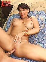 Marcus sucks sexy tranny Marcela\'s cock and lets her do anything to him