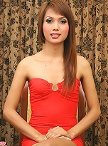 Slim ladyboy with a great smile!