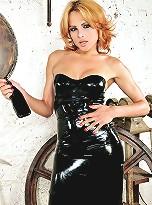 Sweet Blonde In Latex Milking Her Cock