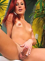 Exquisite Redhead Shemale Peels Of Her Clothes Exposing Her Meat