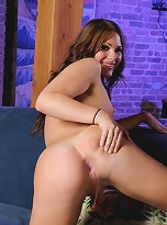 Super hot teen transsexual Ashley George spreading her ass