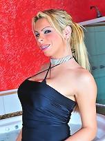 Amazing hottie Lara posing her huge boobies & cock