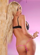 Glamorous tgirl Kimber James posing her perfect body