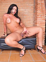 Horny TS Paty Colt Exposing Her Fat Dick