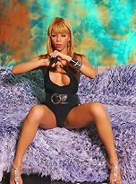extreme erection on a cute blonde Brazilian transsexual