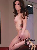 Adorable brunette Brooke showing her hot dick