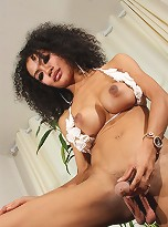 Exotical Tranny Eva Posing Her Fat Cock