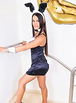 Brazilian Tgirl Mickely Posing As Playboy Bunny