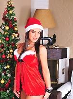 Attractive Mickely Miranda In Xmas Costume