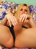 Gorgeous TS Jesse Playing With Pantyhose